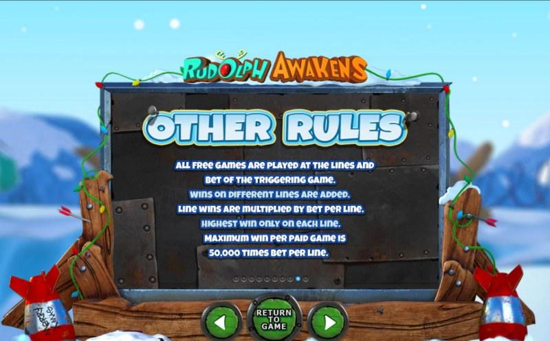 Rudolph Awakens :: General Game Rules