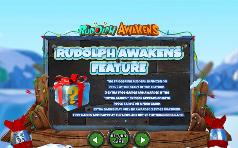 Rudolph Awakens :: Feature Rules