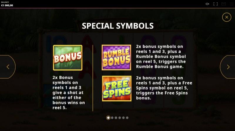 Rumble Rhino :: Special Symbols