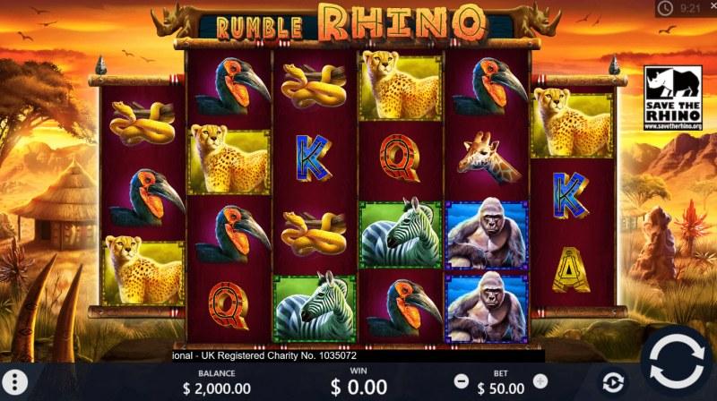 Rumble Rhino :: Main Game Board