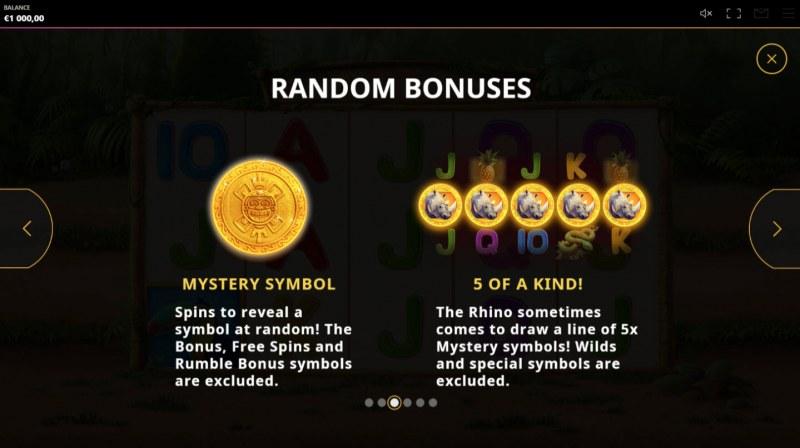 Rumble Rhino :: Random Bonuses