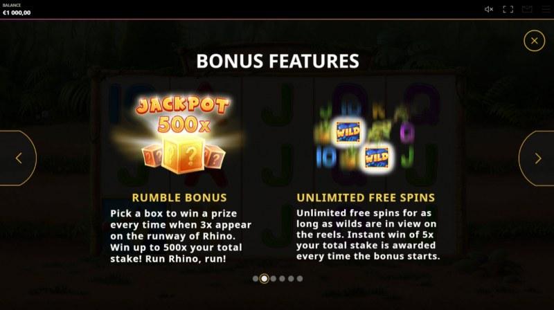 Rumble Rhino :: Bonus Features