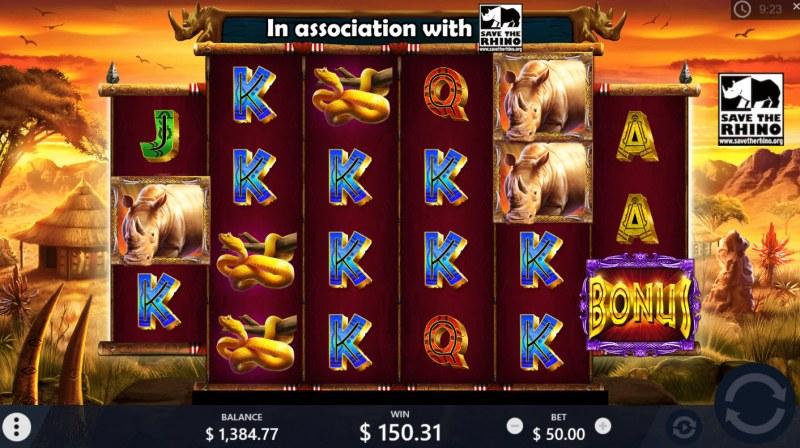 Rumble Rhino :: Multiple winning paylines