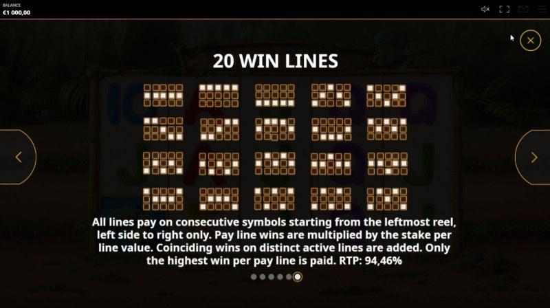 Rumble Rhino :: Paylines 1-20