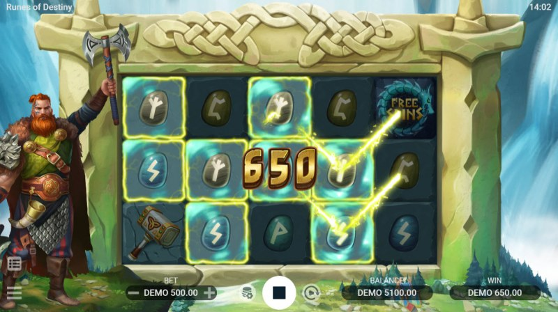 Runes of Destiny :: A four of a kind win