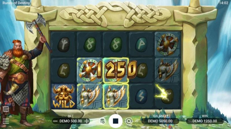 Runes of Destiny :: A three of a kind win