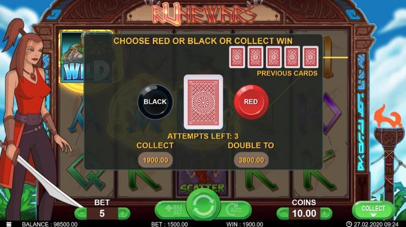 Runewars :: Black or Red Gamble Feature