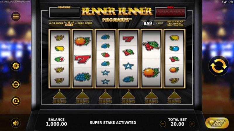 Runner Runner Megaways :: Main Game Board