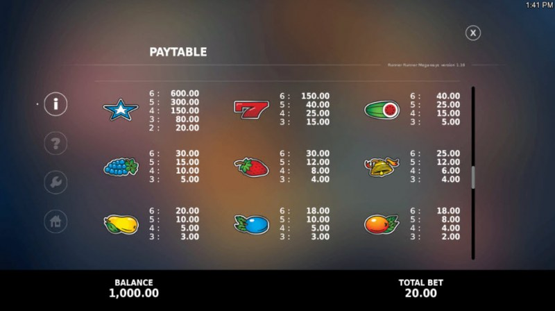 Runner Runner Megaways :: Paytable - High Value Symbols