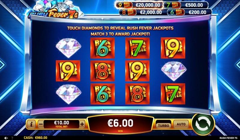 Rush Fever 7s :: Jackpot Pick Game