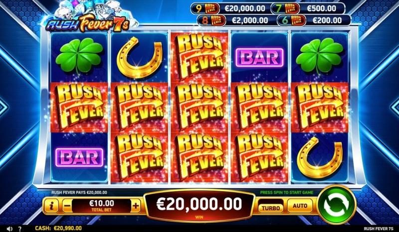 Rush Fever 7s :: Rush Fever Win
