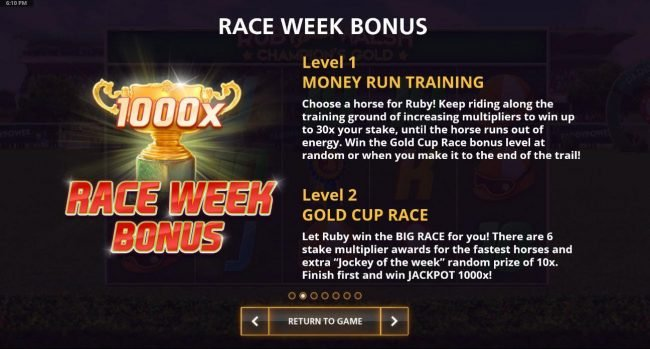 Race Week Bonus Rules