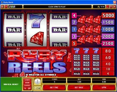 Play slots at 777Dragon: 777Dragon featuring the Video Slots Ruby Reels with a maximum payout of $25,000