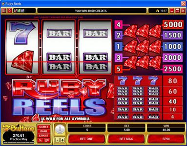 Casino Splendido featuring the Video Slots Ruby Reels with a maximum payout of $25,000