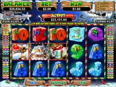 Palace of Chance featuring the Video Slots Rudolph's Revenge with a maximum payout of Jackpot