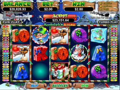 Play slots at Mega 7's: Mega 7's featuring the Video Slots Rudolph's Revenge with a maximum payout of Jackpot