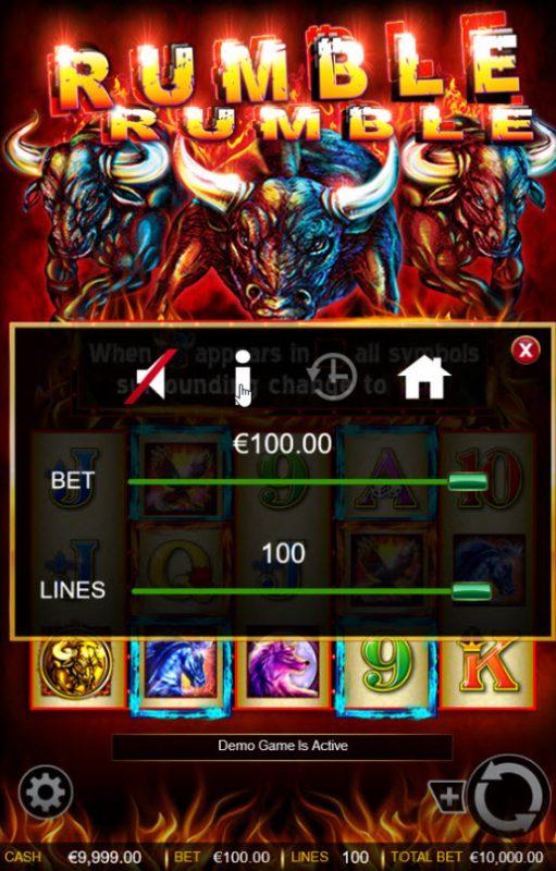 Rumble Rumble :: Betting Options