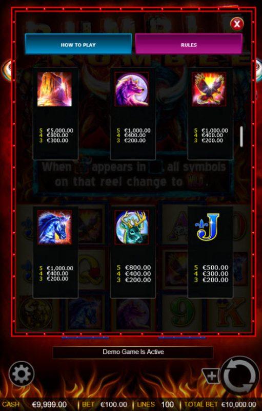Rumble Rumble :: Free Spins - Medium Value Symbols