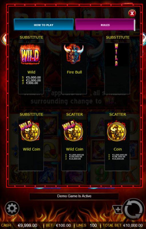 Rumble Rumble :: High Value Symbols
