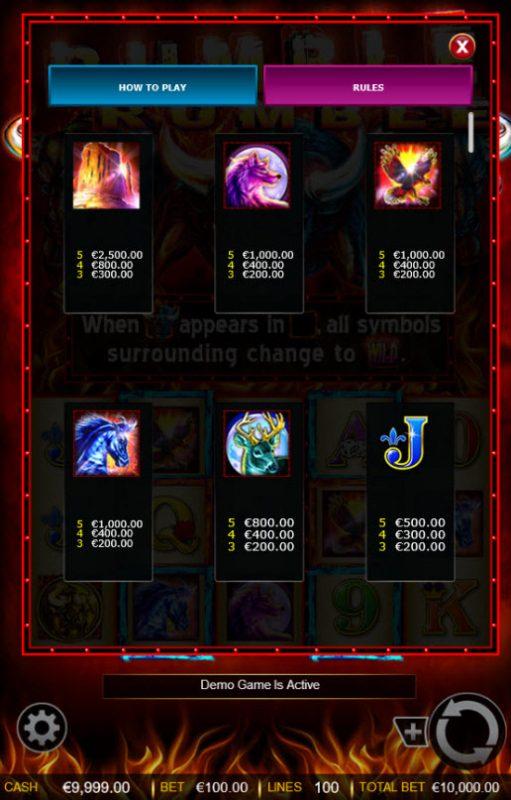 Rumble Rumble :: Medium Value Symbols