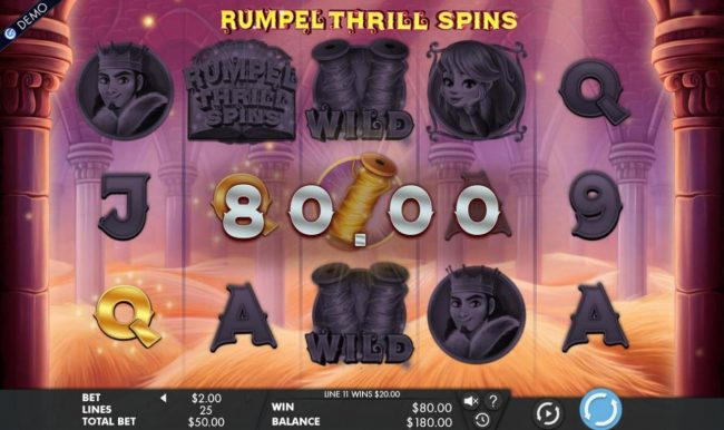 Roxy Palace featuring the Video Slots Rumpel Thrill Spins with a maximum payout of $50,000