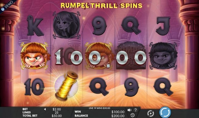 Jackpot City featuring the Video Slots Rumpel Thrill Spins with a maximum payout of $50,000