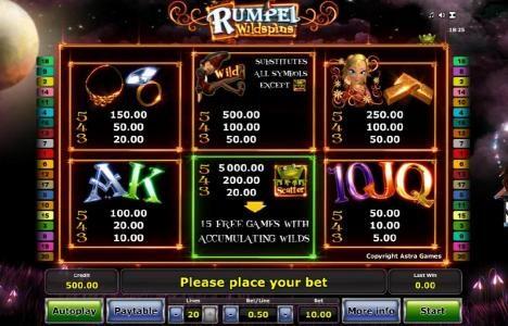 Rumpel Wildspins :: slot game symbols paytable