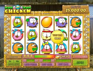 1BET featuring the Video Slots Run Chicken Run with a maximum payout of $25,000