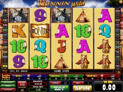 Play slots at Casinoval: Casinoval featuring the Video Slots Runnin' Wild with a maximum payout of $187.50