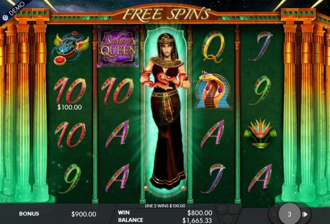 Stacked wild symbol triggers an 800.00 payout during the free spins feature.