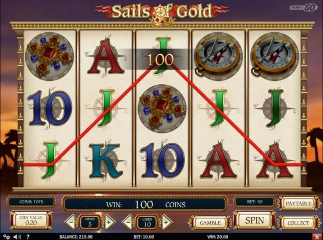 Play slots at Mr Green: Mr Green featuring the Video Slots Sails of Gold with a maximum payout of $250,000