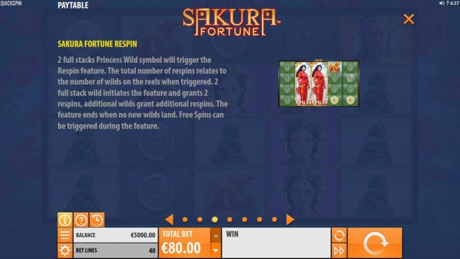 Energy featuring the Video Slots Sakura Fortune with a maximum payout of $86,960