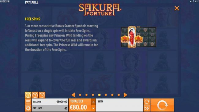 Omnia featuring the Video Slots Sakura Fortune with a maximum payout of $86,960