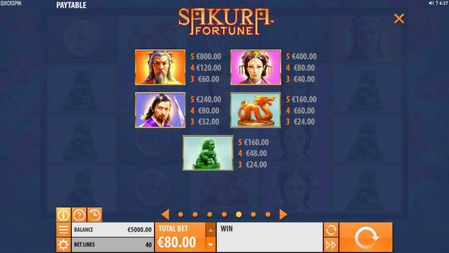 Crystal featuring the Video Slots Sakura Fortune with a maximum payout of $86,960