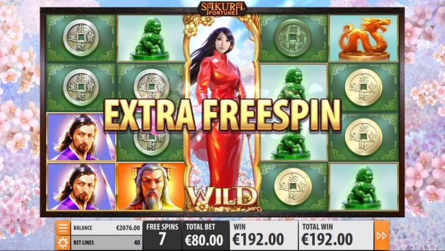 Powerspins featuring the Video Slots Sakura Fortune with a maximum payout of $86,960