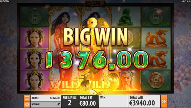 Amsterdam Casino featuring the Video Slots Sakura Fortune with a maximum payout of $86,960