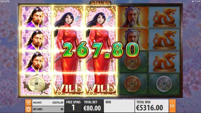Play slots at Club Vulkan: Club Vulkan featuring the Video Slots Sakura Fortune with a maximum payout of $86,960