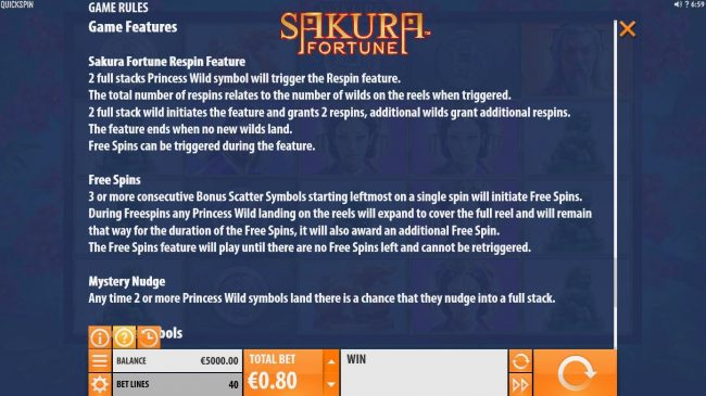 Play slots at Casino Mate: Casino Mate featuring the Video Slots Sakura Fortune with a maximum payout of $86,960
