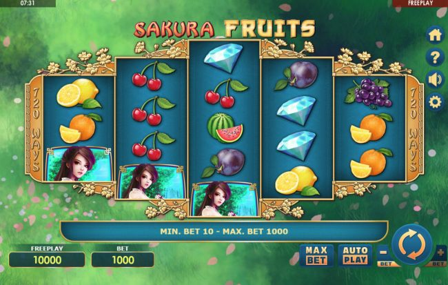 Sakura Fruits :: Main Game Board
