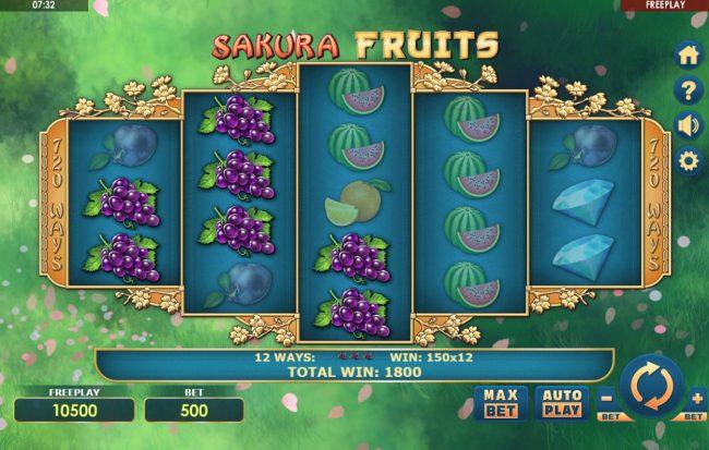 Sakura Fruits :: Multiple winning combinations