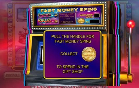 pull the handle for fast money spins
