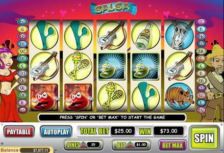 Play slots at Miami Club: Miami Club featuring the Video Slots Salsa with a maximum payout of $50,000