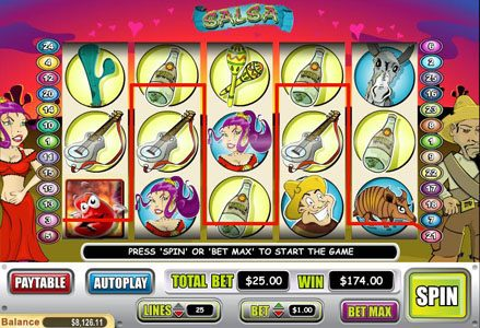 Lincoln featuring the Video Slots Salsa with a maximum payout of $50,000