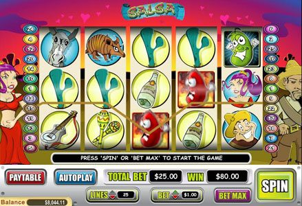 Red Stag featuring the Video Slots Salsa with a maximum payout of $50,000