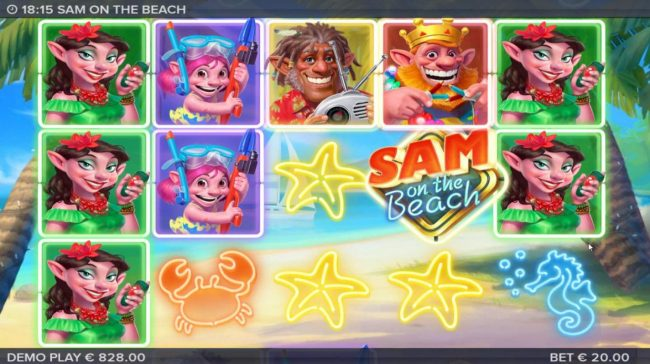 Play slots at Dreamy 7: Dreamy 7 featuring the Video Slots Sam on the Beach with a maximum payout of $227,520