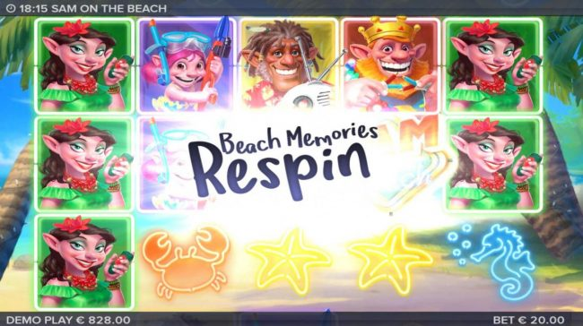 Casimba featuring the Video Slots Sam on the Beach with a maximum payout of $227,520