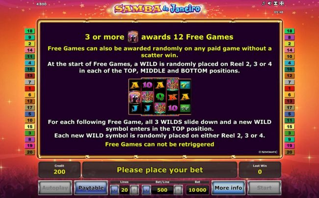 Free Games Bonus Rules