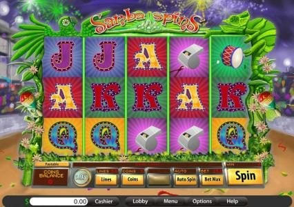 Villa Fortuna featuring the Video Slots Samba Spins with a maximum payout of $10,000