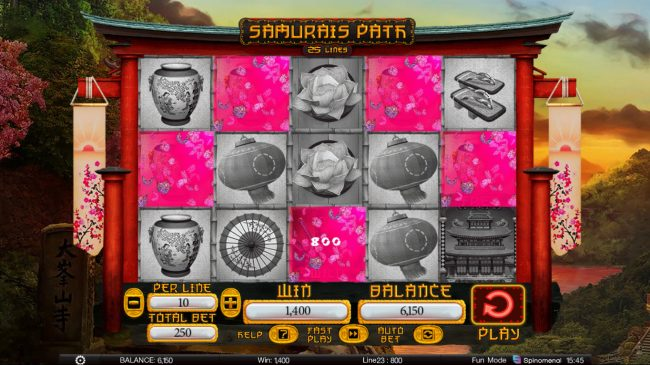 Samurai Path :: Multiple winning paylines