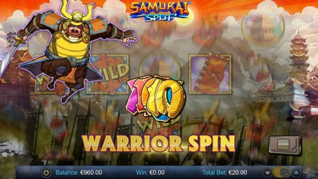 Play slots at Africa Casino: Africa Casino featuring the Video Slots Samurai Split with a maximum payout of $40,000
